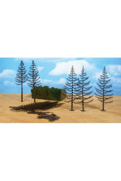 Heki 1970 Набор из 10 деревьев 18-22см для самостоятельной сборки