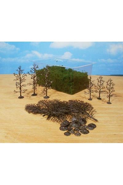 Heki 1972 Набор из 15 деревьев 6-12см для самостоятельной сборки