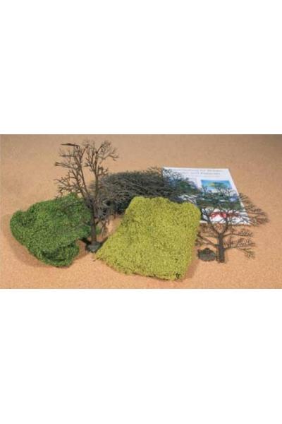 Heki 1974 Набор из 5 деревьев 18-22см для самостоятельной сборки