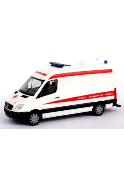 Herpa 900218  Скорая помощь Реанимация MB Sprinter 06  Эпоха V-VI 1/87