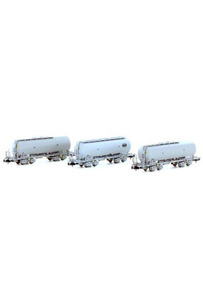 Hobbytrain 23480 Набор вагонов Uacs 3шт SBB Epoche V 1/160
