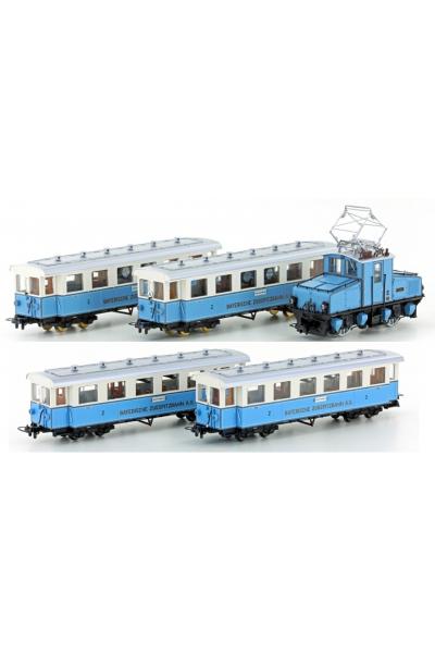 Hobbytrain 43100+43101 Набор Zugspitzbahn AEG Tal-Lok+4 вагона H0m