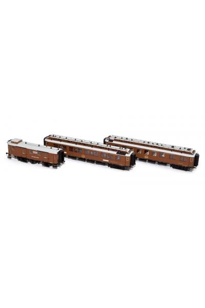 H44015 Набор пассажирских вагонов (2) CIWL Wien-Nizza-Cannes Express Epoche I 1/87