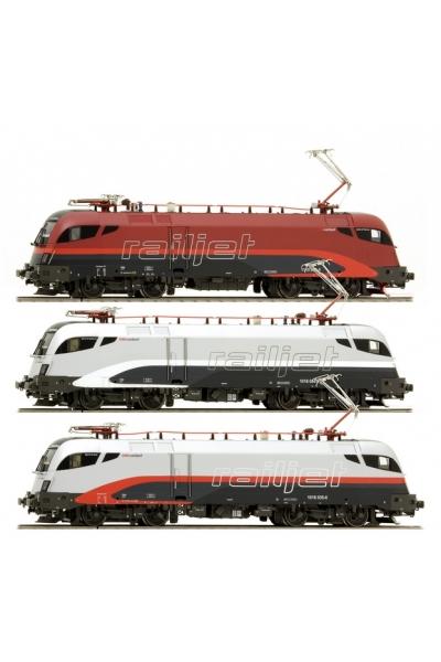 Jagerndorfer 70300 Набор электровозов 3шт. Taurus Railjet OBB Epoche VI 1/87