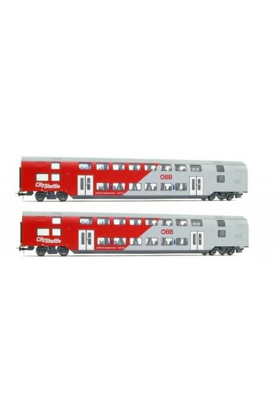 Jagerndorfer 73201 Набор вагонов 2шт. City Shuttle OBB Epoche VI 1/87