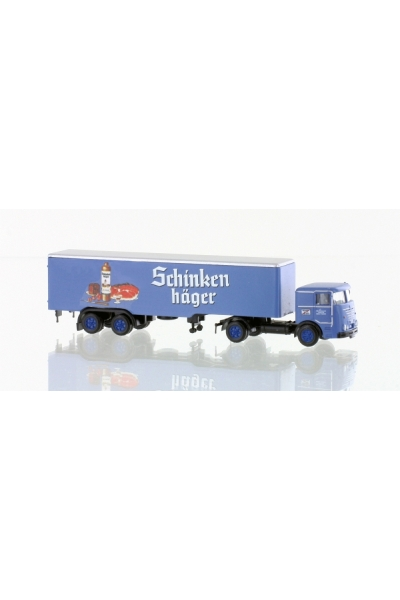 Minis 3622 Автомобиль Bussing LU11-16 Sattelzug Schinkenhager 1/160