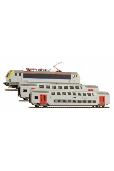 LSM 12215 Набор электровоз 1815+2 вагона M6B 200km/h SNCB Epoche VI 1/87