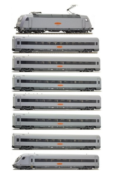 LSM 16040/46041/46042 Набор Электровоз 101 131-1 +7 вагонов MetropolitaN Express GmbH Epoche V 1/87