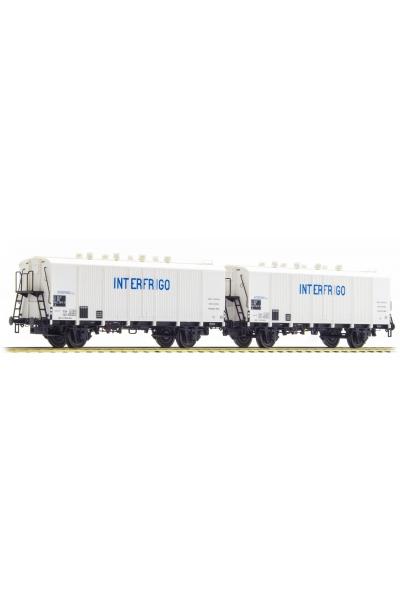 LSM 30512 Набор вагонов Bauart ls INTERFRIGO SNCF Epoche IV 1/87
