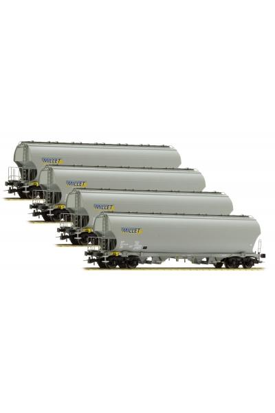 LSM 30580 Набор вагонов Tagnpps 4шт Millet SNCF Epoche VI 1/87