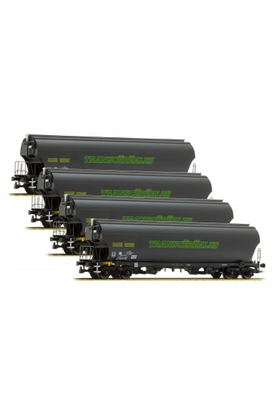 LSM 30583 Набор вагонов Tagnpps 4шт TRANSCEREALES SNCF Epoche VI 1/87