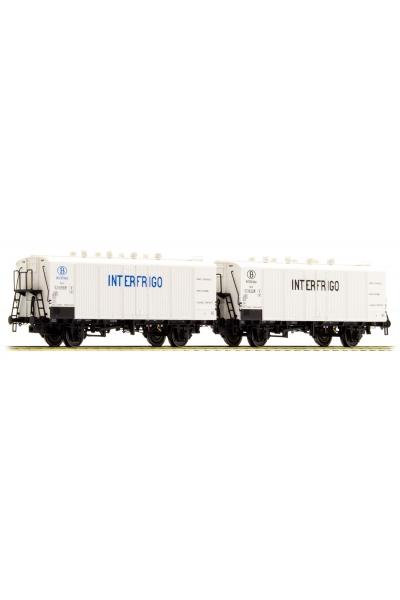 LSM 32101 Набор вагонов Icefs 2шт SNCB Epoche V 1/87
