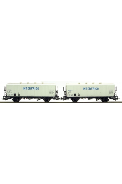 LSM 32102 Набор вагонов Icefs INTERFRIGO SNCB Epoche IV 1/87