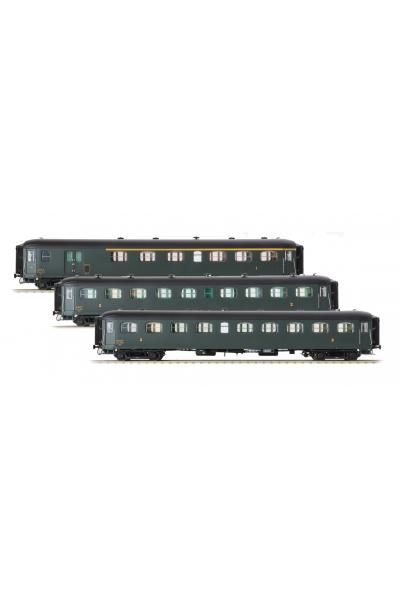 LSM 40187 Набор пассажирских вагонов Rapide Nord SNCF Epoche III 1/87
