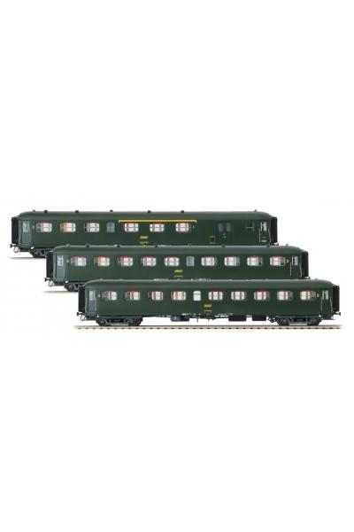 LSM 40199 Набор пассажирских вагонов Rapide Nord SNCF Epoche IV 1/87