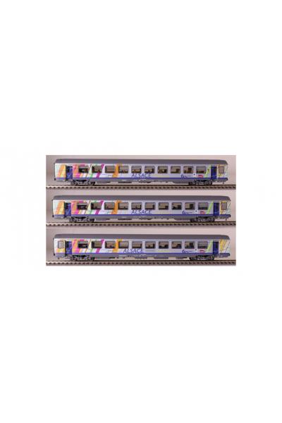 LSM 40282 Набор вагонов Alsace S Elass SNCF Epoche V - VI 1/87