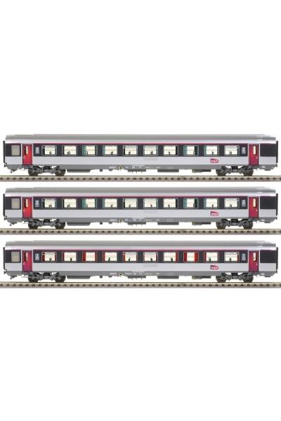 LSM 40314 Набор пассажирских вагонов Vru A10 B11 B11 logo carmillon SNCF Epocha VI 1/87