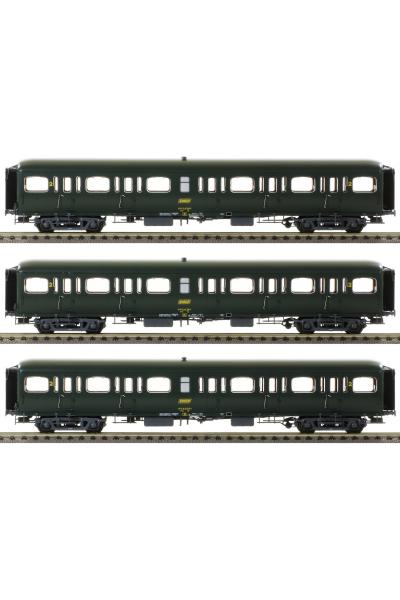 LSM 40319 Набор пассажирских вагонов Express Nord B11 Epoche IV 1/87