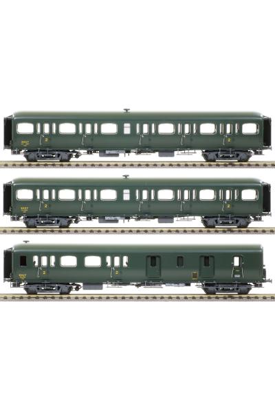 LSM 40327 Набор вагонов Express Nord B11 B11 B4D SNCF Epoche III 1/87