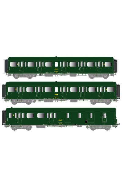 LSM 40330 Набор вагонов Express Nord B11+B11+B4d SNCF Epoche IV 1/87