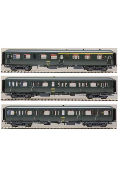 LSM 40331 Набор вагонов Express Nord  A3B4+B9+B11 SNCF Epoche IV 1/87