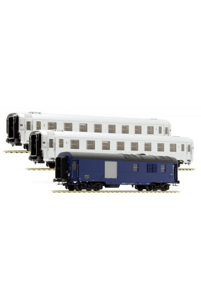 LSM 41101 Набор пассажирских вагонов Mistral 56 Paris-Nice SNCF Epoche III 1/87