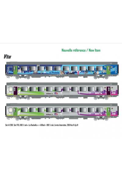 LSM 41200 Набор вагонов La Rochelle SNCF Epoche VI 1/87