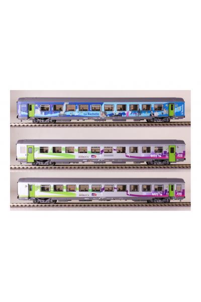 LSM 41201 Набор вагонов La Rochelle SNCF Epoche VI 1/87