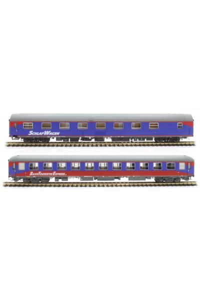 LSM 46039 Набор пассажирских вагонов WLABmz ex OBB+Bvcmz 248.5 ex DB BahnTouristikExpress.de Epoche VI 1/87