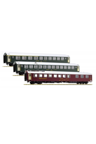 LSM 47234 Набор пассажирских вагонов UIC SBB Epoche IV 1/87