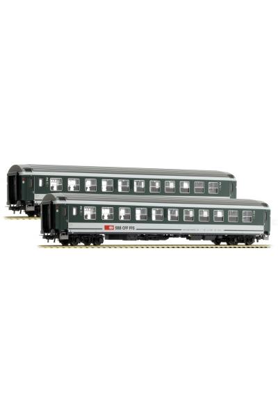LSM 47277 Набор пассажирских вагонов Bpm + Bpm UIC-X RIC SBB Epoche VI 1/87