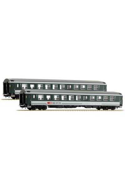 LSM 47278 Набор пассажирских вагонов Bpm der SBB, Epoche VI 1/87
