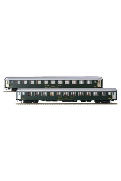 LSM 47327 Набор пассажирских вагонов Bcm SBB Epoche IV 1/87