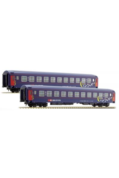 LSM 47332 Набор пассажирских вагонов Bcm Mond Sterne SBB Epoche IV-V 1/87