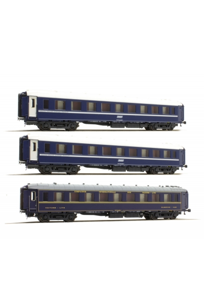 LS Models 49124 Набор пассажирских вагонов 1x CIWL  2x TEN UIC SNCF Epoche IV 1/87