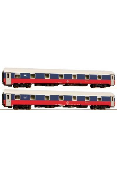 LSM58012 Набор пассажирских вагонов WLABmee РЖД 1998г Epoche V 1/120