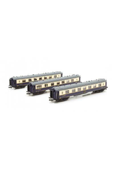 LSM 79176 Набор пассажирских вагонов WP/WPc/WP CIWL Epoche III 1/160