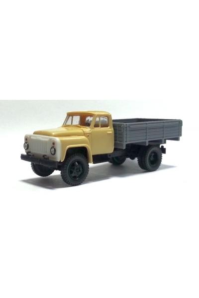 MM 33342 Автомобиль ГАЗ-52 бортовой кабина беж кузов серый 1/87