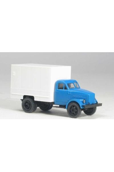 MM 37286 Автомобиль ГАЗ-51 изотермический фургон У-127 гражд.кабина синяя 1/87