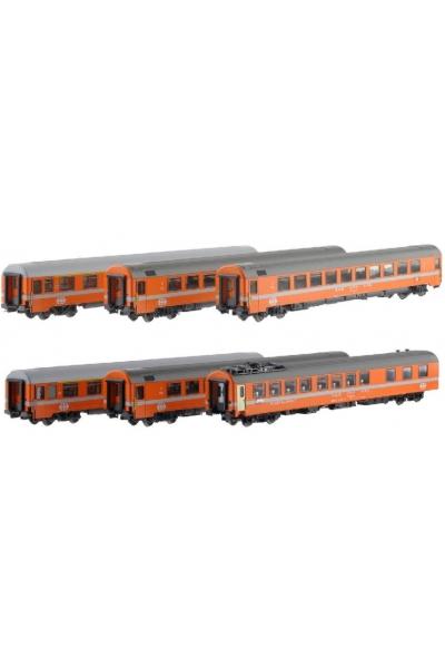 MW 1604 Набор пассажирских вагонов EC IRIS Zurich-Brussel SBB Epoche IV 1/87