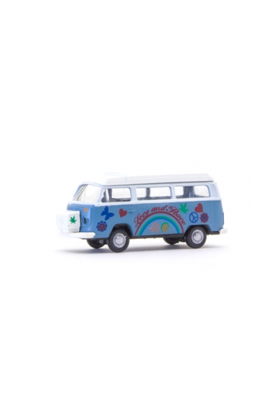 Minis 3870 Автомобиль VW Bus T2 Flower Power 1/160