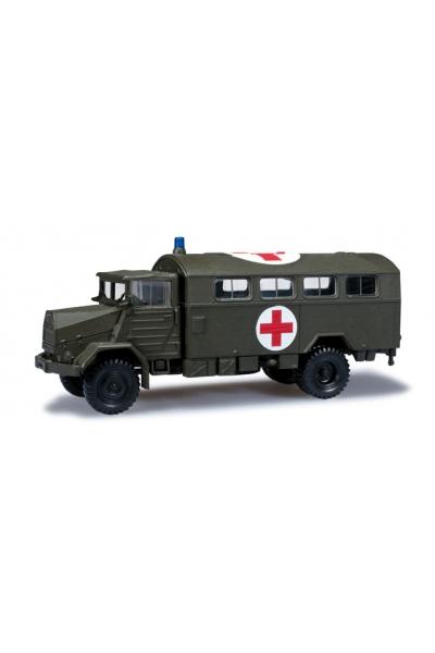 """Minitanks 744577 MAN 630 """"Rotes Kreuz"""" Bundeswehr 1/87"""