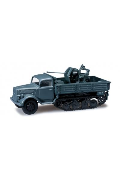 Minitanks 744645 Opel Blitz Halbkette mit Flakaufbau  Wehrmacht 1/87