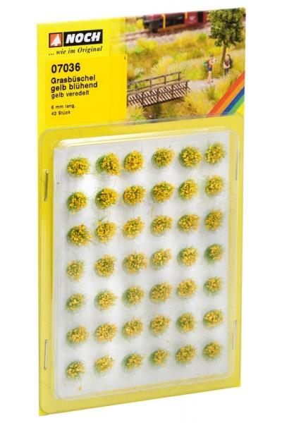 Noch 00736 Набор кочек цветущие жёлтые 6мм 42шт