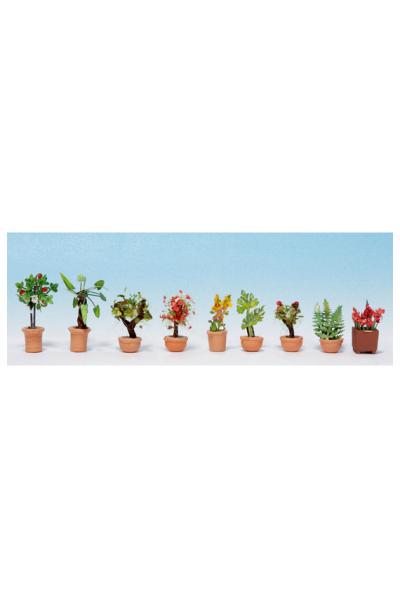 Noch 14082 Декоративные растения в горшках 1/87