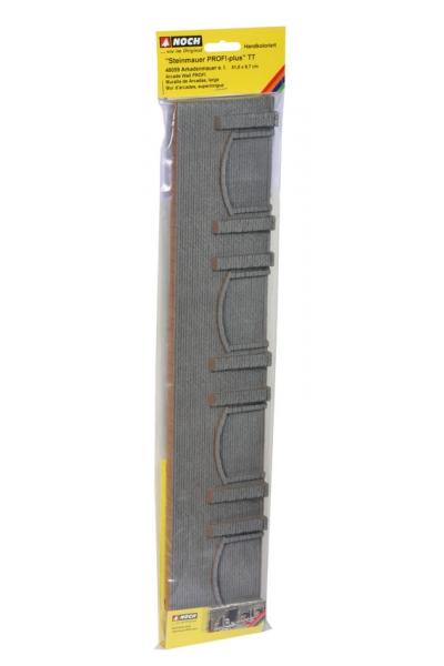 Noch 48059 Стена подпорная с колонными и арками обработаный камень 51,6 х 9,8см 1/120