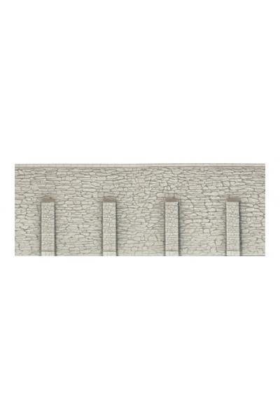 Noch 58066 Стена подпорная необработанный камень с колоннами 33х12,5см 1/87