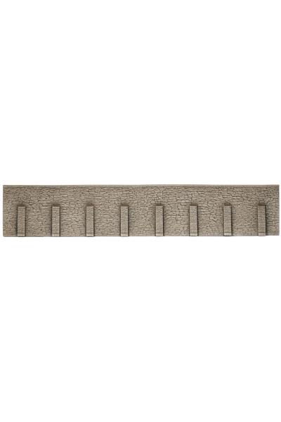 Noch 58067 Стена подпорная необработанный камень с колоннами 66х12,5см 1/87
