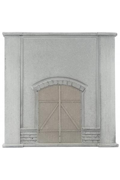 Noch 58086 Стена подпорная с воротами 12,5 x 12,5см 1/87