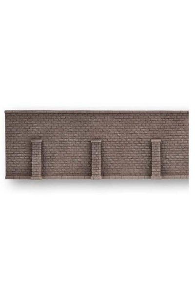 Noch 58274 Стена подпорная с колонами обработанный камень 33.5Х12.5см 1/87
